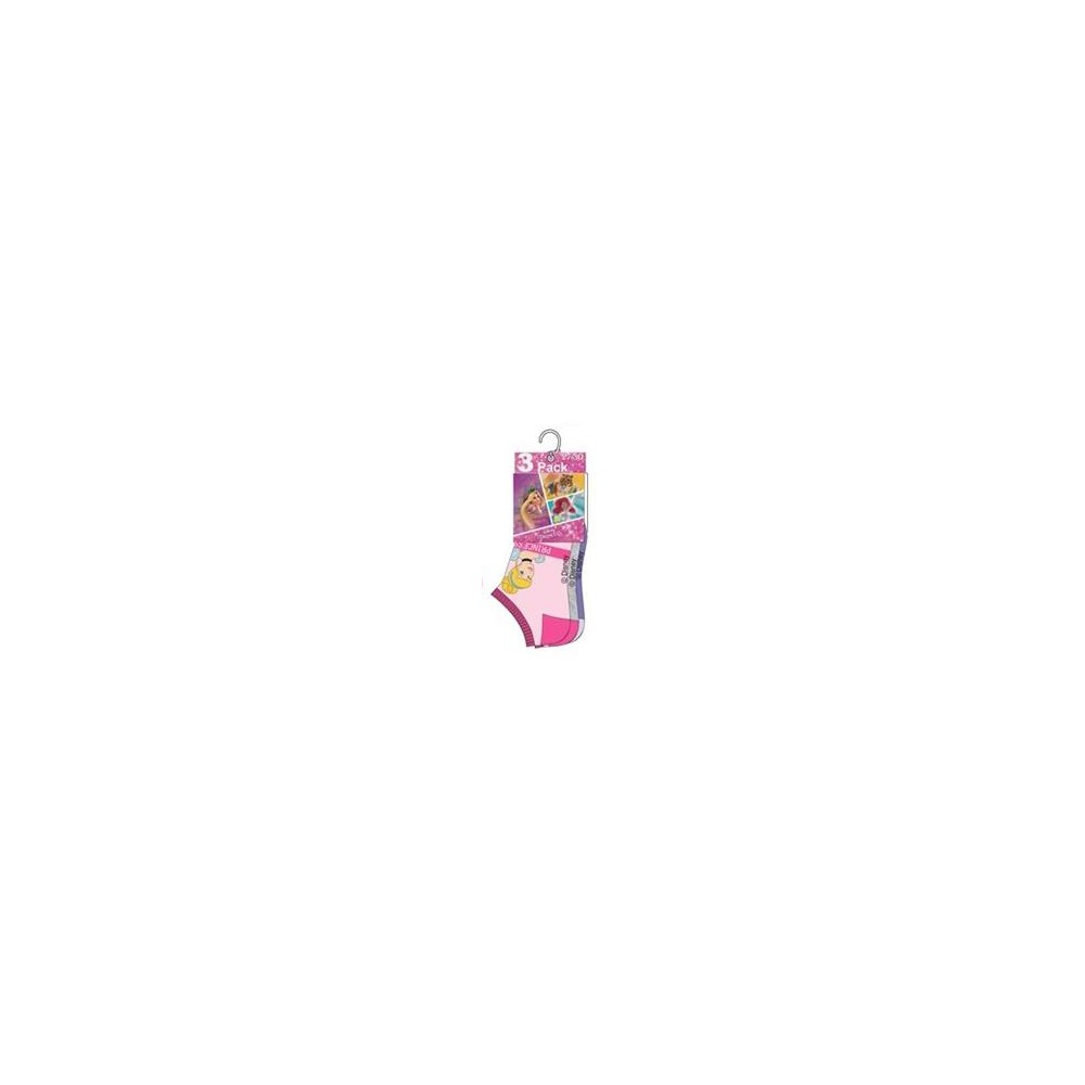 Pack de 3 Calcetines Princesas Disney cortos invisibles