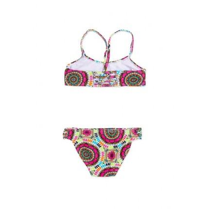 Bikini Losan niña junior Be Happy top cruzado