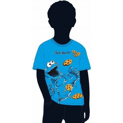 Camiseta Barrio Sesamo niño infantil kids Cookie Monster manga corta