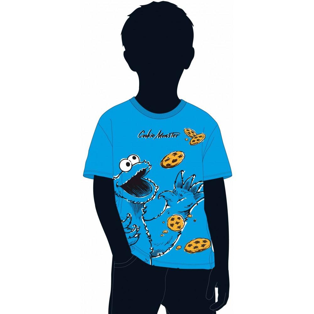 Camiseta Barrio Sesamo niño infantil kids Cookie Monster manga corta