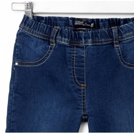Pantalón Denim Losan niña junior skinny básico goma