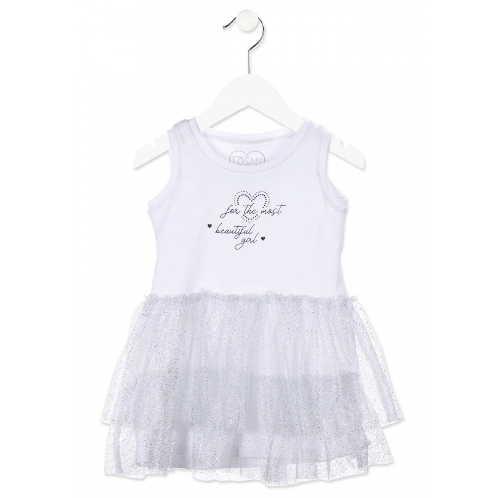 Vestido Tul Losan Kids niña infantil Beautiful girl tirantes