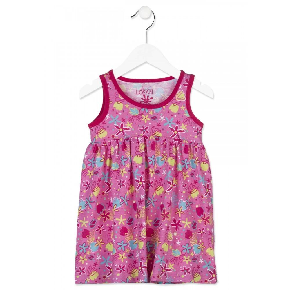 Vestido Losan Kids niña infantil Flores tirantes