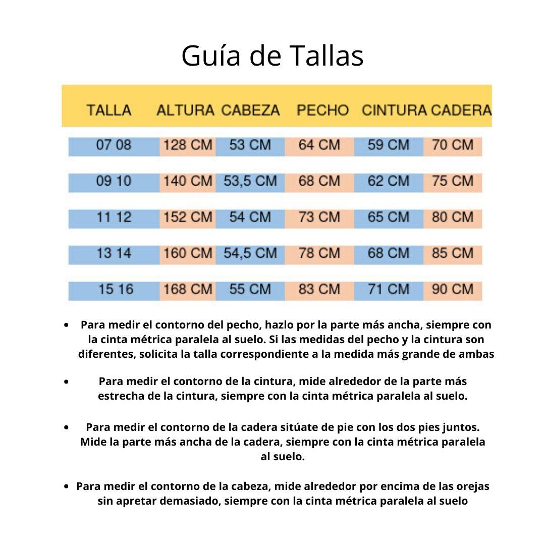 Guía de Tallas junior