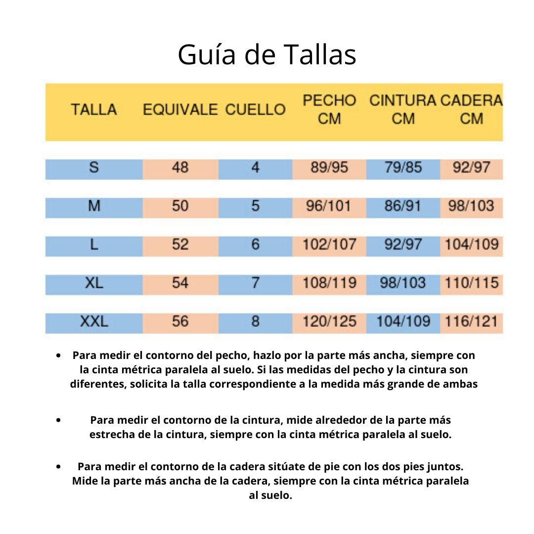 GUÍA DE TALLAS CAMISETAS HOMBRE
